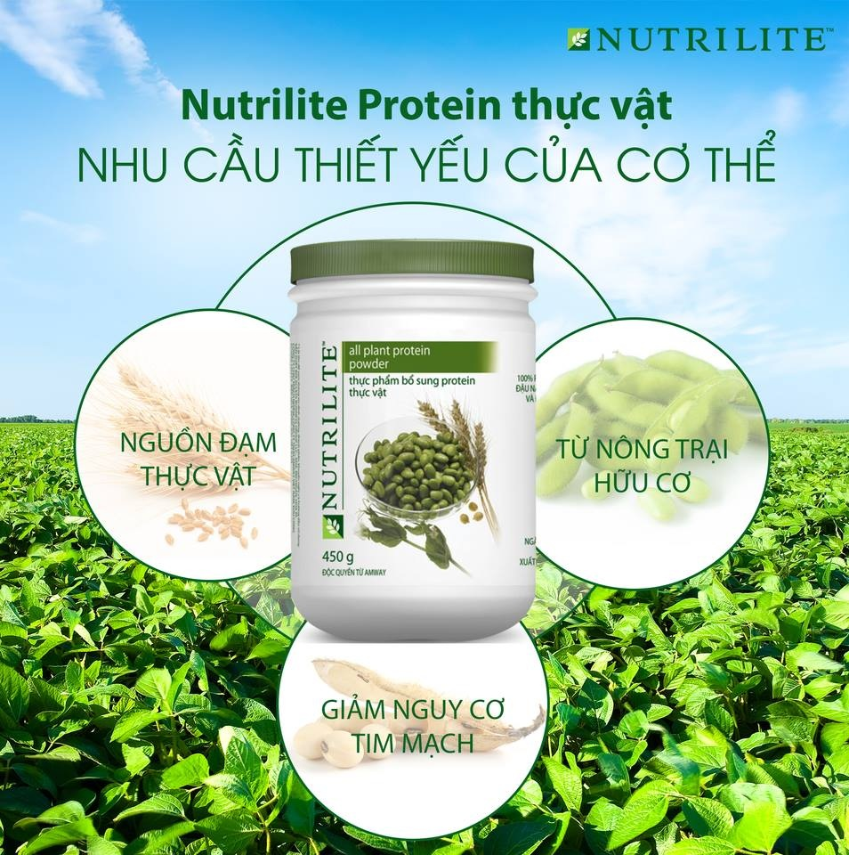 Demo minh họa Protein Amway Nutrilite Protein Powder Amway
