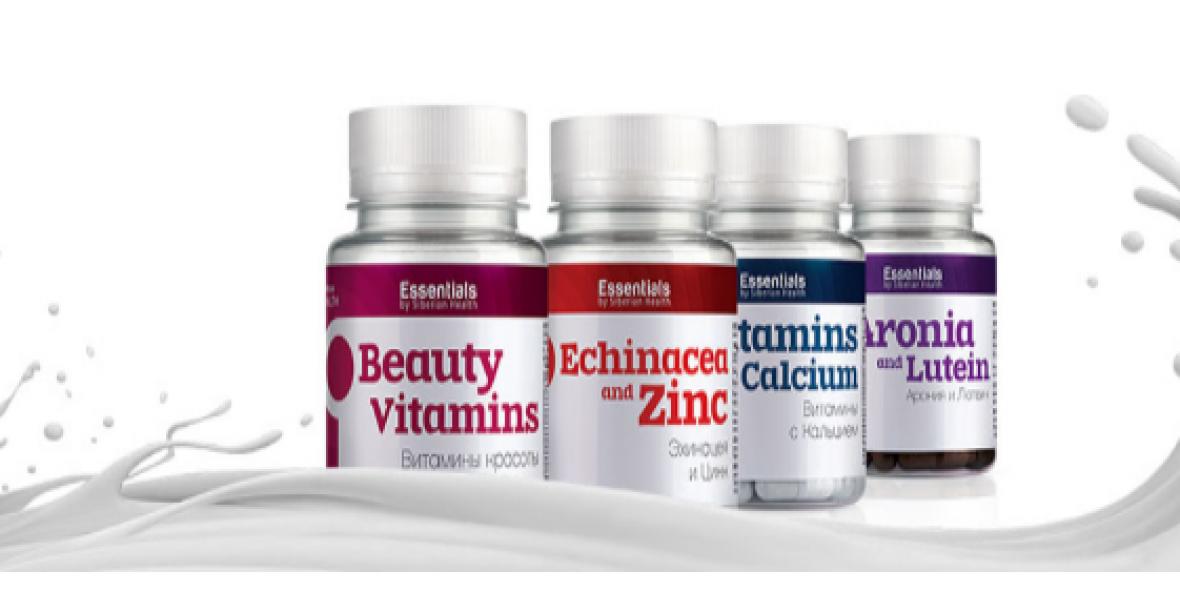 Essentials by Siberian Health Beauty Vitamins Làm Đẹp Da, Tóc