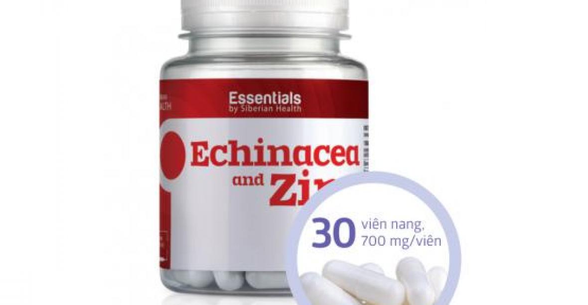 Essentials by Siberian Health Echinacea and Zinc Tăng Sức Đề Kháng, Hệ Miễn Dịch